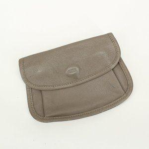 Vintage Mundi Tan Leather Coin Purse Wallet
